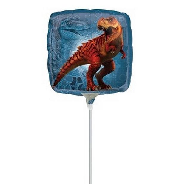 Jurassic World folie ballon op stok 23cm