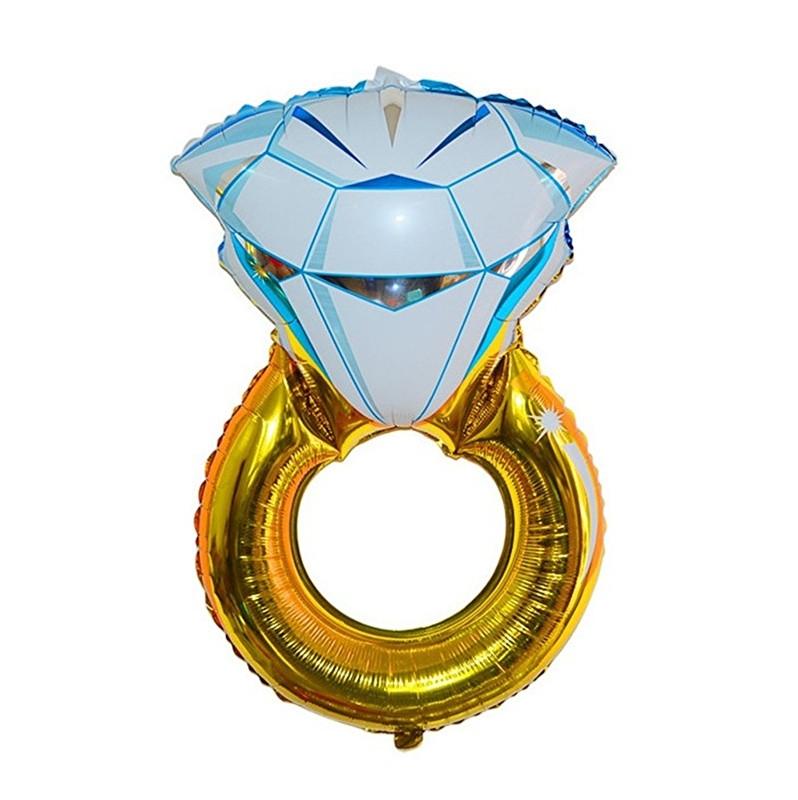 Folie ballon diamant ring bruiloft