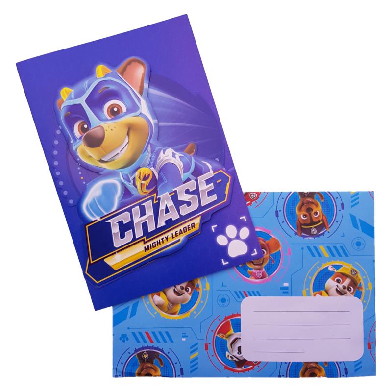 Paw Patrol Chase verjaardagskaart 20,5x14,5cm