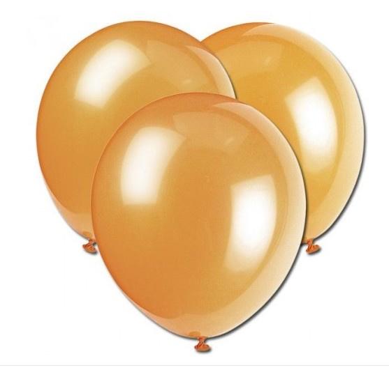 Ballonnen goud  10 stuks
