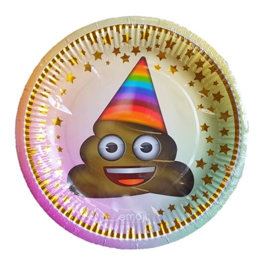 Emoji poop borden 6 stuks 23cm