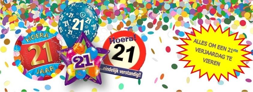 Verjaardag 21 jaar feestartikelen