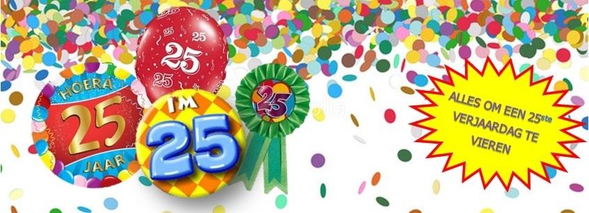 Verjaardag 25 jaar feestartikelen