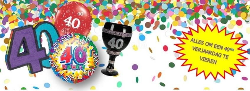 verjaardag 40 feestartikel