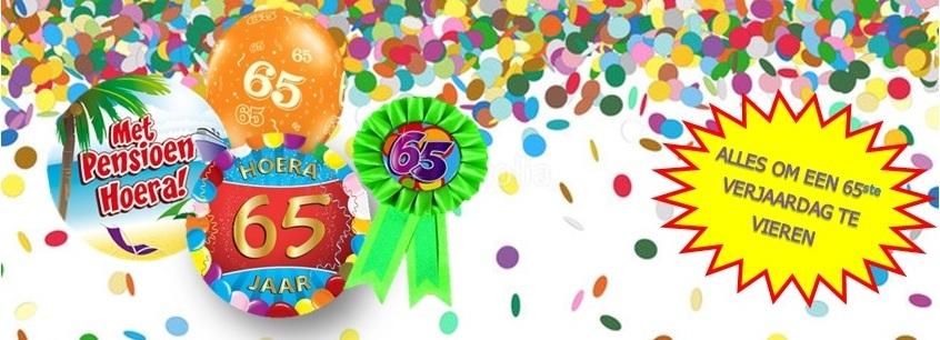Verjaardag feestartikelen 65 jaar