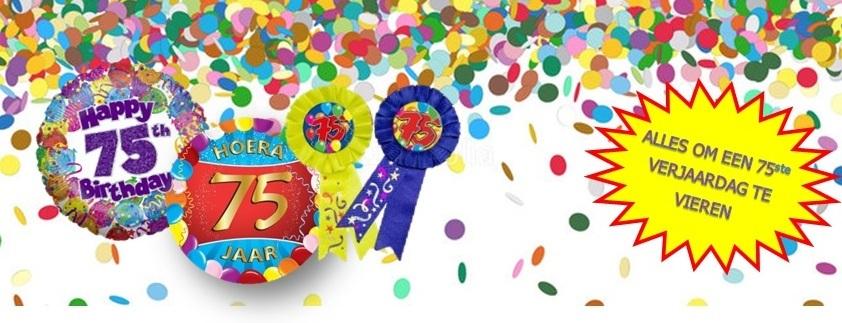 Verjaardag 75 jaar feestartikelen