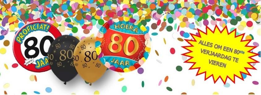 verjaardag 80 jaar feestartikelen