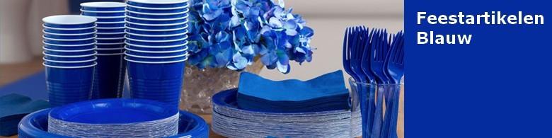 Feestartikelen blauw verjaardag