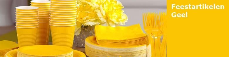 Gele versieringen