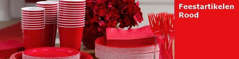 Feestartikelen kleur rood