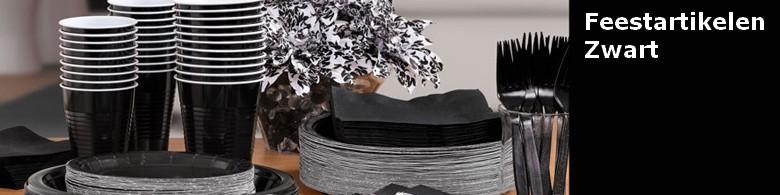 Feestartikelen kleur zwart