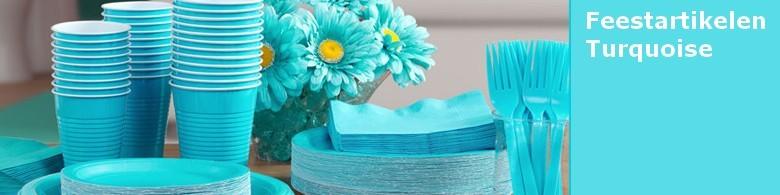 Kleur turquoise feest