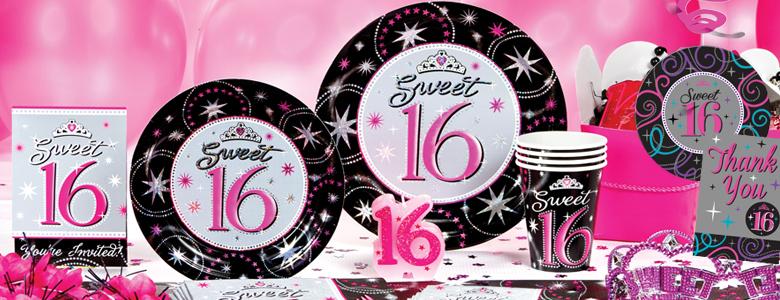 Sweet 16 feestartikelen