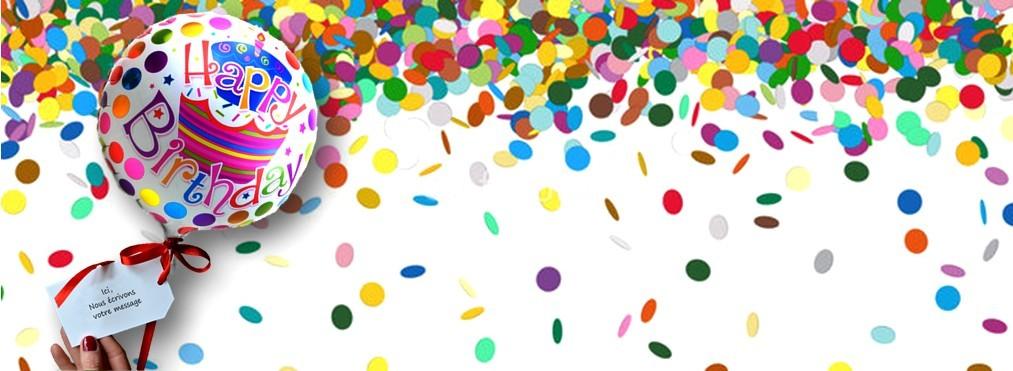 Helium ballon kaartje bericht
