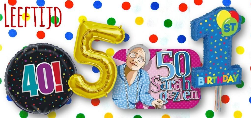 feestartikelen leeftijd