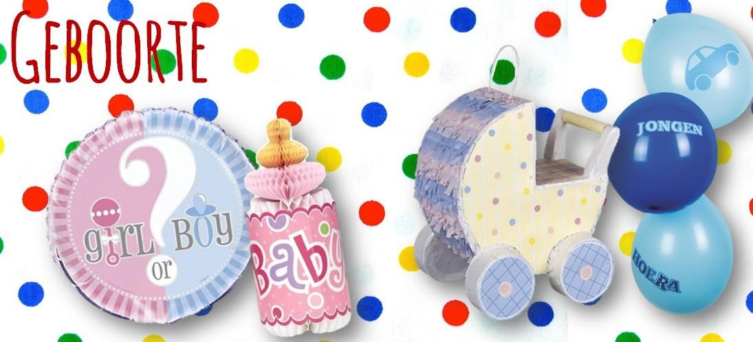 Feestartikelen en decoraties geboorte feest babyshower