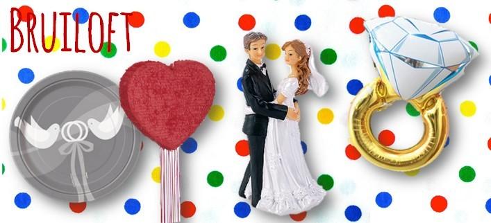 Bruiloft huwelijk feestartikelen