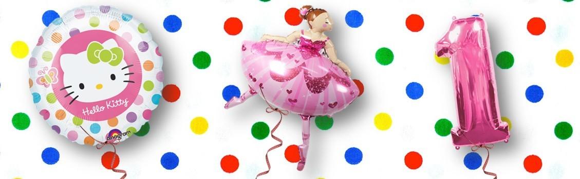Helium ballon meisje kinderfeest