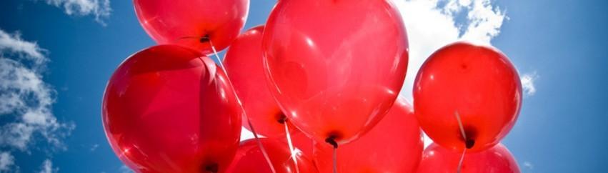 Ballonnen rood kleur