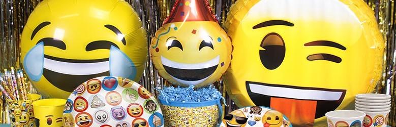 Emoji versieringen verjaardag