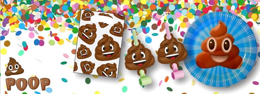 Poop emoji feestversiering