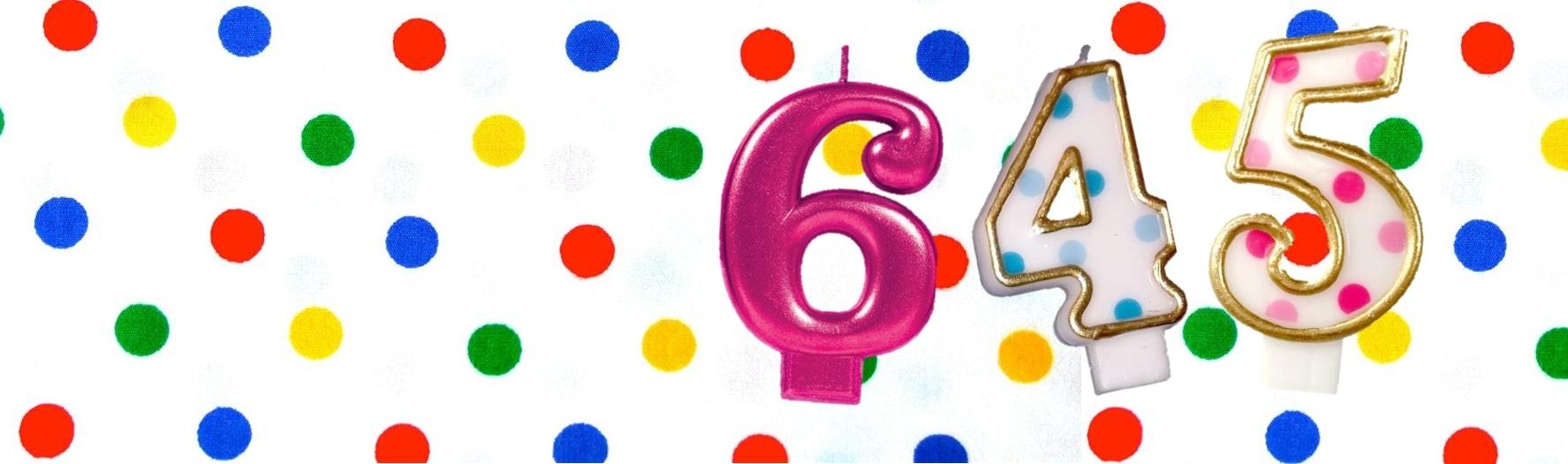 Cijfer leeftijd kaarsen taart