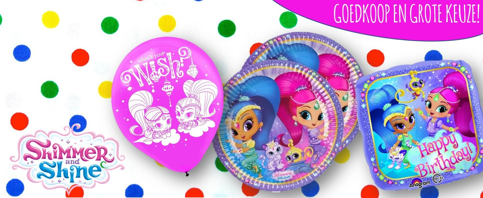 Shimmer and Shine feestartikelen kinderfeest