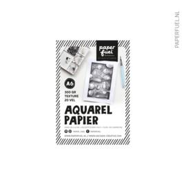 Aquarelpapier A6 20 vel off white