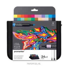 Promarker set 24 alcoholmarker art & illustration etui