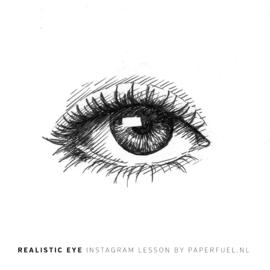 Online instagram cursus realistisch oog tekenen