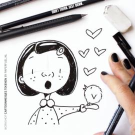 Workshop cartoonmeisjes teken je zo! za 23 oktober