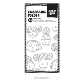 Embossing folder A6 Weird girls