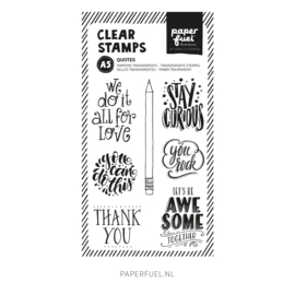 Clear stamps A5 Quotes