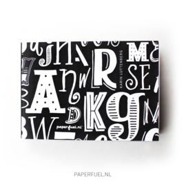 Handletter blok Alfabet A6