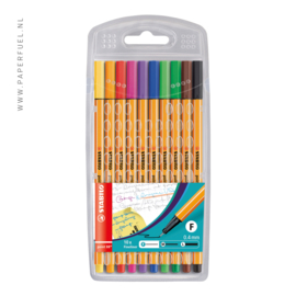 Stabilo fineliners point 88 etui 10 kleuren