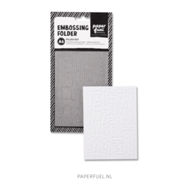 Embossing folder A6 Filled out
