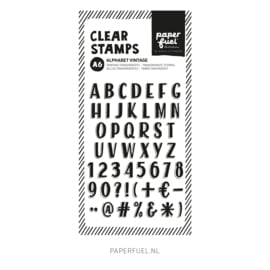 Clear stamps A6 Alfabet vintage