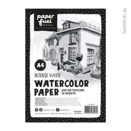 Aquarelpapier A4 10 vel intense white