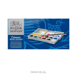 Cotman set aquarel 12 kleuren