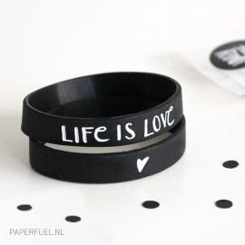 Armbandje 'life is love'