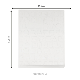Embossing folder A6 Solid as a rock