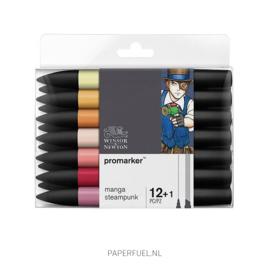Promarker set 12+1 alcoholmarker manga steampunk