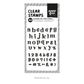 Clear stamps A6 Alfabet get them stripes