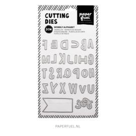Cutting die Wobbly Alfabet (3 cm per letter)