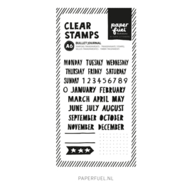 Clear stamps A6 Bullet journal