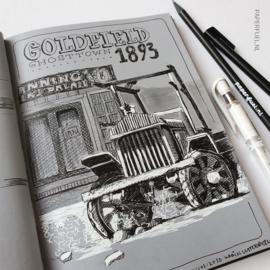 The grey book A5 portrait 120 gr Hahnemühle