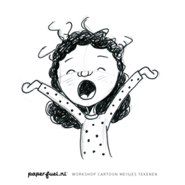 Workshop cartoonmeisjes tekenen // KreaDoe 27 - 31 okt 10.30 uur