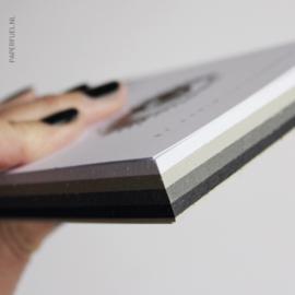 Kaartenblok, pons, witte pen combinatie set