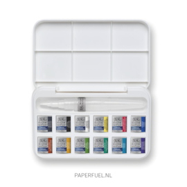 Cotman set aquarel 12 kleuren waterbrush