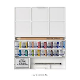 Cotman deluxe sketchers pocketbox set aquarel 16 kleuren